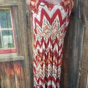 One World Women\'s Plus Size 2X Maxi Dress